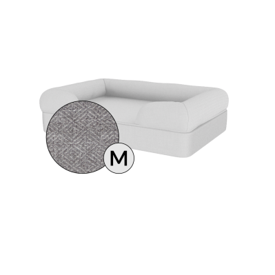 Bolster Dog Bed Cover Only - Medium - Stone Grey