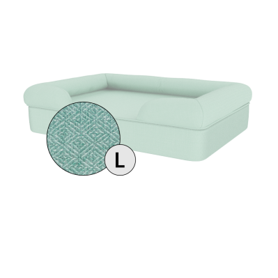 Bolster Dog Bed Cover Only - Large - Teal Blue