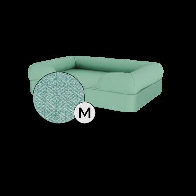 Bolster Dog Bed Cover Only - Medium - Teal Blue