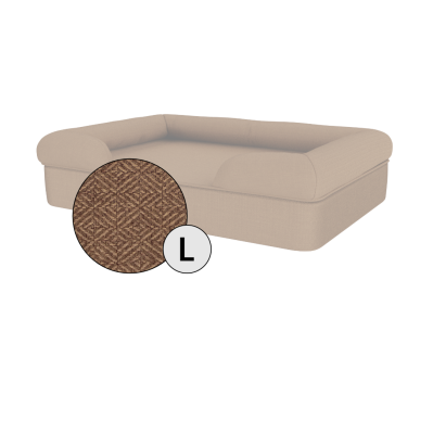 Bolster Dog Bed Cover Only - Large - Mocha Brown