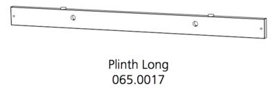 Fido Studio Plinth Long Assembly 36 White (065.0017.0001)