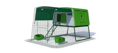 Eglu Cube Chicken Coop with 6ft Run Package - Leaf Green