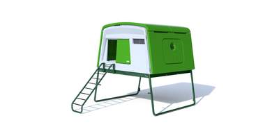 Eglu Cube Large Chicken Coop with Accessories - Leaf Green