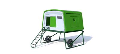 Eglu Cube Large Chicken Coop with Wheels and Accessories - Leaf Green