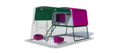 Eglu Cube Large Chicken Coop with 6ft Run Package - Purple