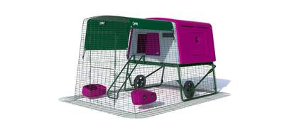 Eglu Cube Large Chicken Coop with 6ft Run and Wheels Package - Purple