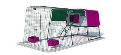 Eglu Cube Large Chicken Coop with 9ft Run Package - Purple