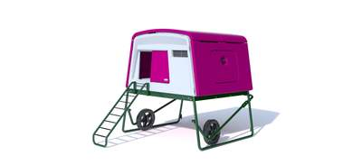 Eglu Cube Large Chicken Coop with Wheels and Accessories - Purple