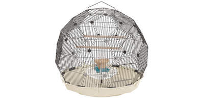 Geo Bird Cage - Cream and Black