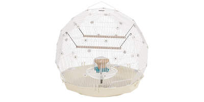 Geo Bird Cage - Cream and White
