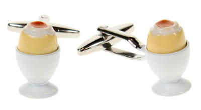 Boiled Egg Cufflinks