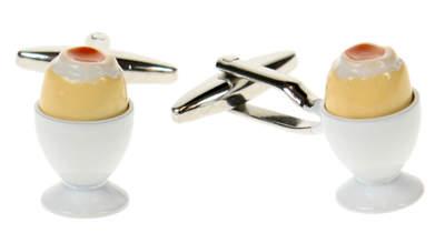 Manschettenknöpfe Gekochtes Ei