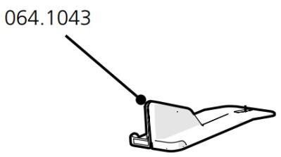 Cube Mk2 Droppings Tray Locking Clip (064.1043)