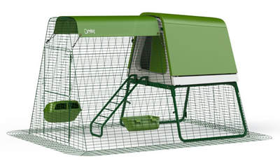Eglu Go UP Chicken Coop with 6ft Run Package - Leaf Green