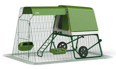 Eglu Go UP Chicken Coop with 6ft Run and Wheels Package - Leaf Green
