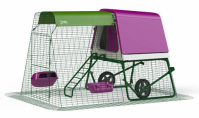 Eglu Go UP Chicken Coop with 6ft Run and Wheels Package - Purple