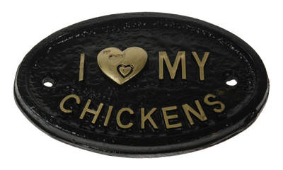 Türschild – I Love My Chickens
