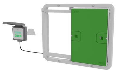 Porte automatique pour poulailler universelle - Vert