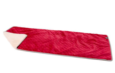Luxury Super Soft Dog Blanket Large - Poinsettia Red and Cream