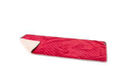Luxury Super Soft Dog Blanket Medium - Poinsettia Red and Cream