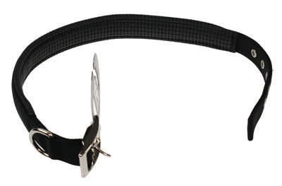 Black Dog Collar - 24""