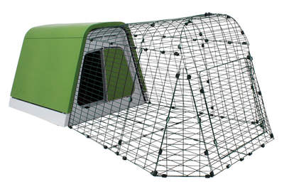 Eglu Go Guinea Pig Hutch with 1m Run Package - Leaf Green