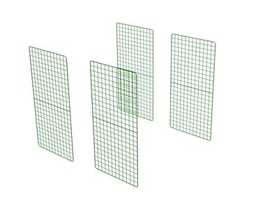Zippi Guinea Pig Run Extension Panels - Double Height - Pack of 4