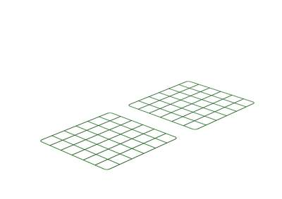 Zippi Guinea Pig Run Underfloor Panels - Pack of 2