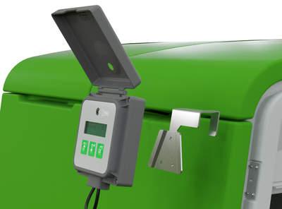 Halterung für die Steuereinheit des Automatischen Türöffners am Eglu Cube Mk2