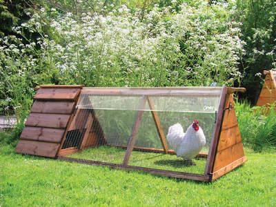 Gjennomsiktig trekk til hønsegård - 1.5 m x 0.9 m