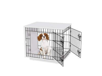 GRADE B - Fido Studio 24 Dog Crate - White