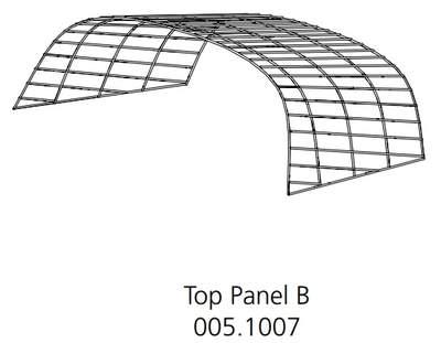 Eglu Go Hutch Run - Top Front Panel - 1m