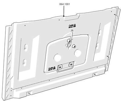 Cube Mk2 Side Panel Left (064.1001) - Green