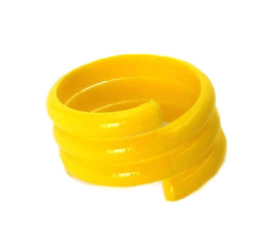 Spiral Leg Ring - 16mm Yellow - Single