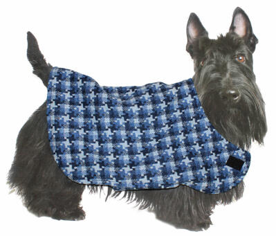 Perdie & Boo Blue Tweed Dog Jacket - Small
