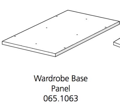 Fido Studio Wardrobe Timber Panel Base 36 White (065.1063.0001)