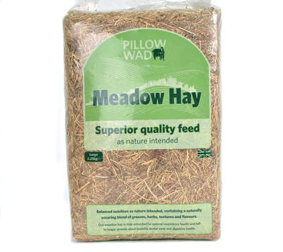 Pillow Wad Mini-Bale Meadow Hay Large 2.25 kg