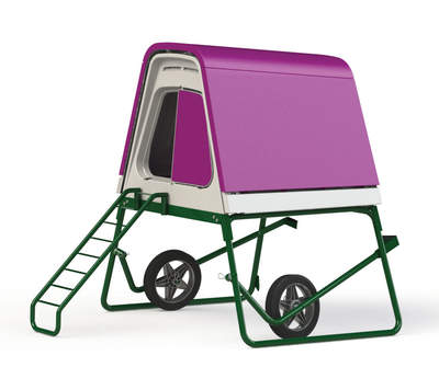 Eglu Go UP Chicken Coop with Wheels and Accessories - Purple