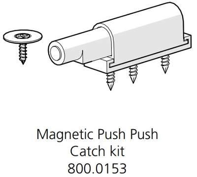 Magnetic Push Push Catch Kit (800.0153)