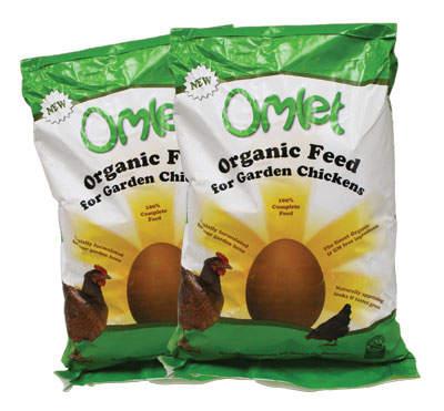Mangime Organico per galline Omlet - due pacchi da 10kg