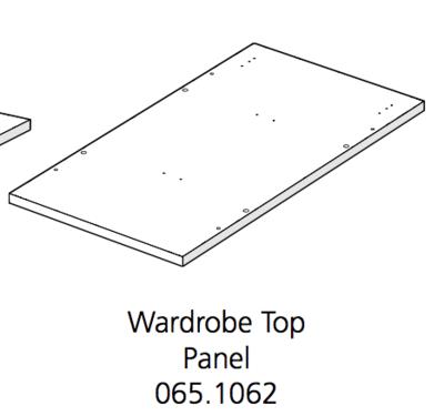 Fido Studio Wardrobe Timber Panel Top 36 White (065.1062.0001)