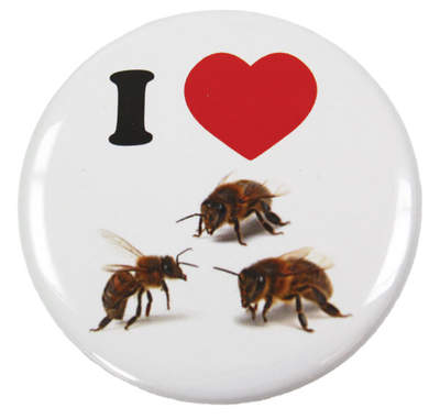 Anstecker - I Love Bees