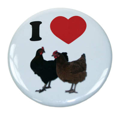 Anstecker - I love Chickens