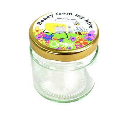 Honningglas og etiketter - 12stk.