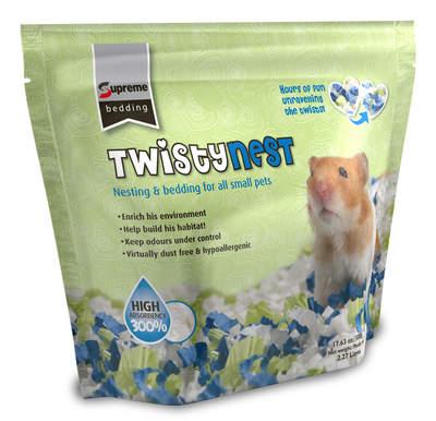 Twistynest rede- & bundmateriale til gnavere 500g