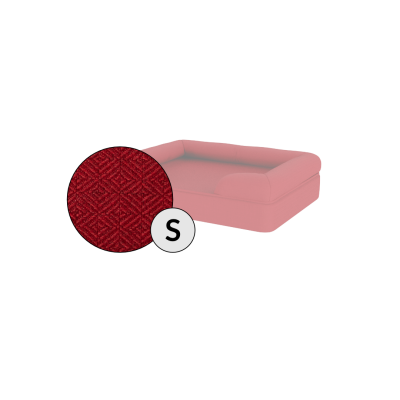 Bolster Dog Bed Cover Only - Small - Merlot Red