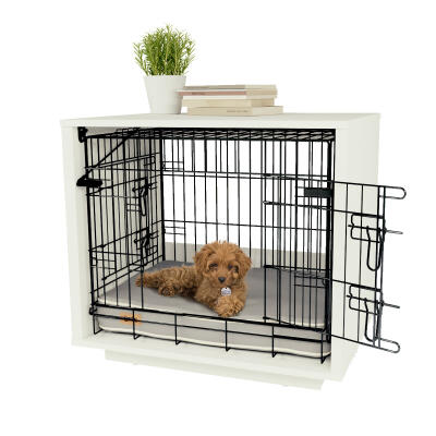 Omlet Fido Nook 24 Dog House with Crate - White