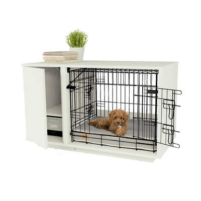 Fido Nook 24 Dog House with Crate and Closet - White