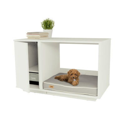 Fido Nook 24 Dog House with Closet - White