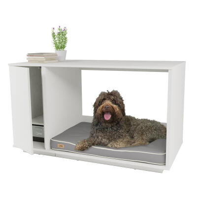 Fido Nook 36 Dog House with Closet - White